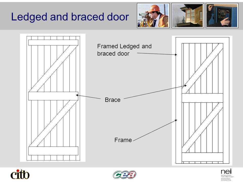 Ledged and braced door Brace Framed Ledged and braced door Frame