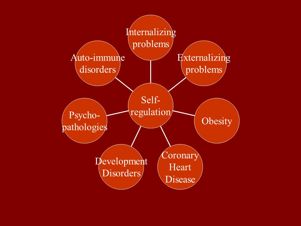 Auto-immune disorders Psycho- pathologies Development Disorders Coronary Heart Disease Obesity Externalizing problems Internalizing problems Self- regulation