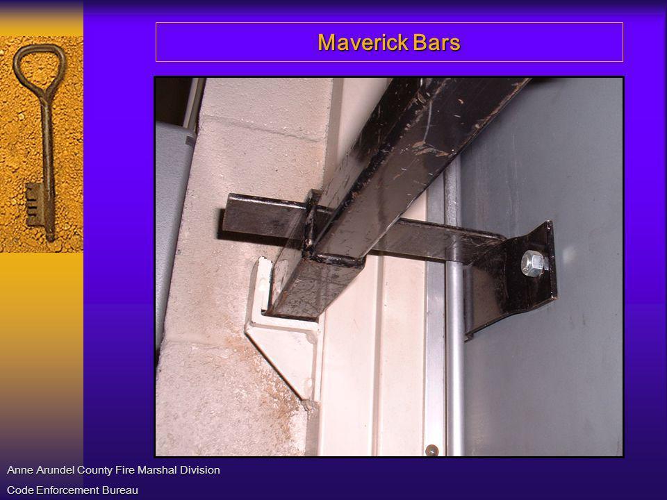 Maverick Bars Anne Arundel County Fire Marshal Division Code Enforcement Bureau