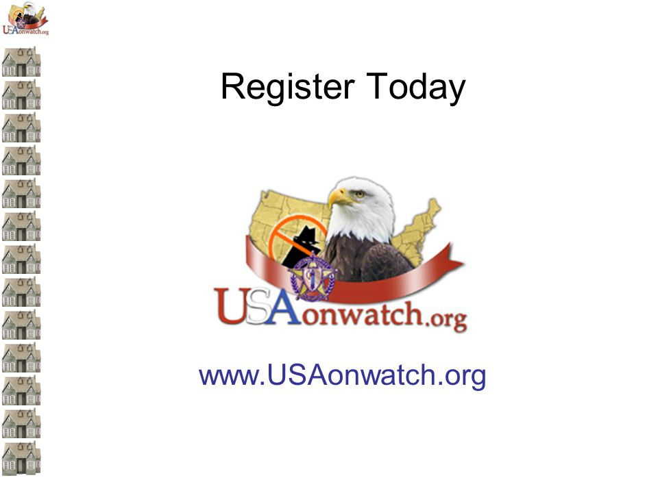 Register Today www.USAonwatch.org
