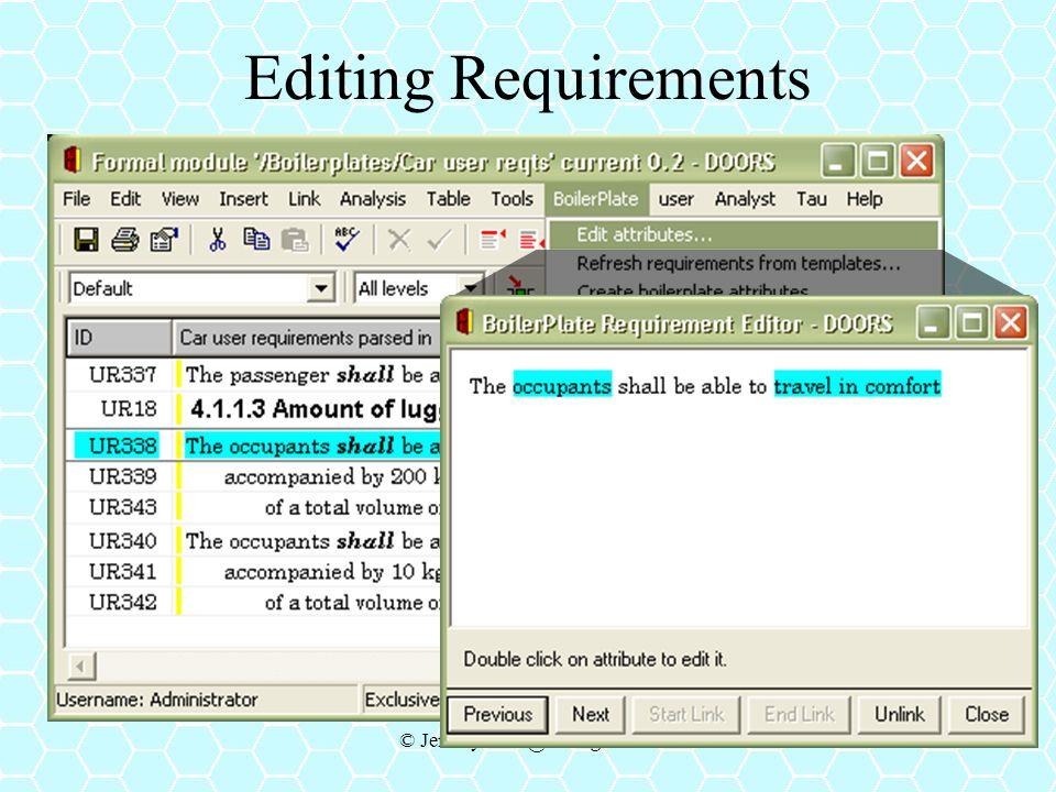 © Jeremy.Dick@telelogic.com Editing Requirements