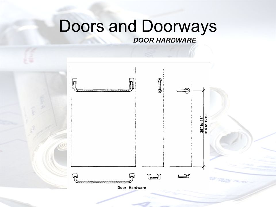 Doors and Doorways DOOR HARDWARE