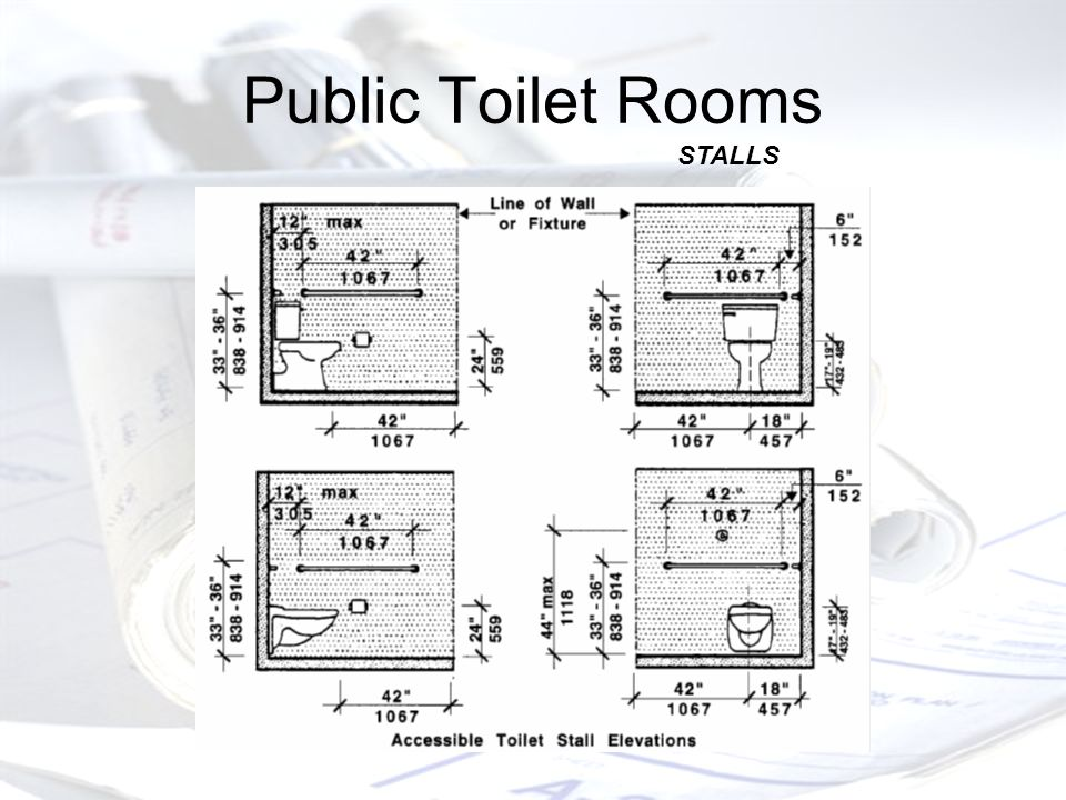 Public Toilet Rooms STALLS