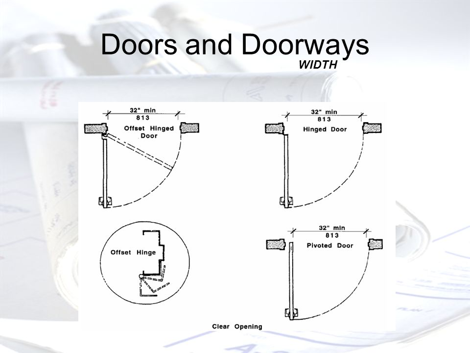 Doors and Doorways WIDTH