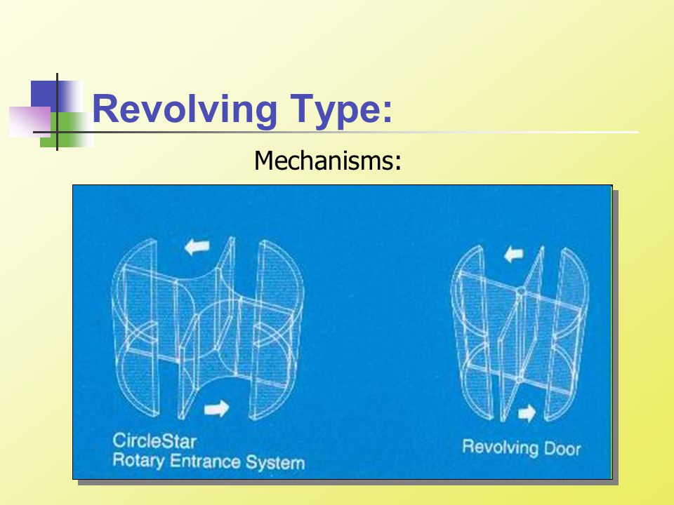 Revolving Type: Mechanisms: