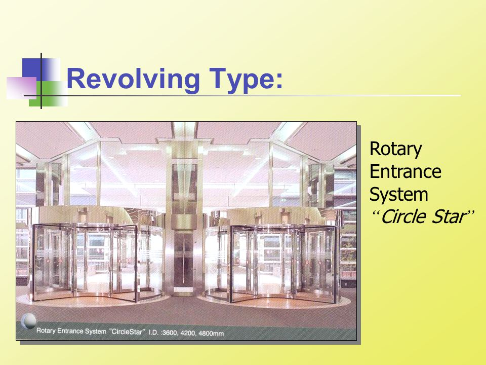 Revolving Type: Rotary Entrance System Circle Star