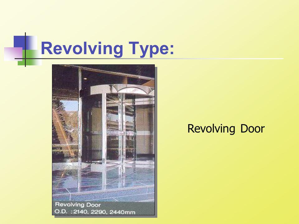 Revolving Type: Revolving Door