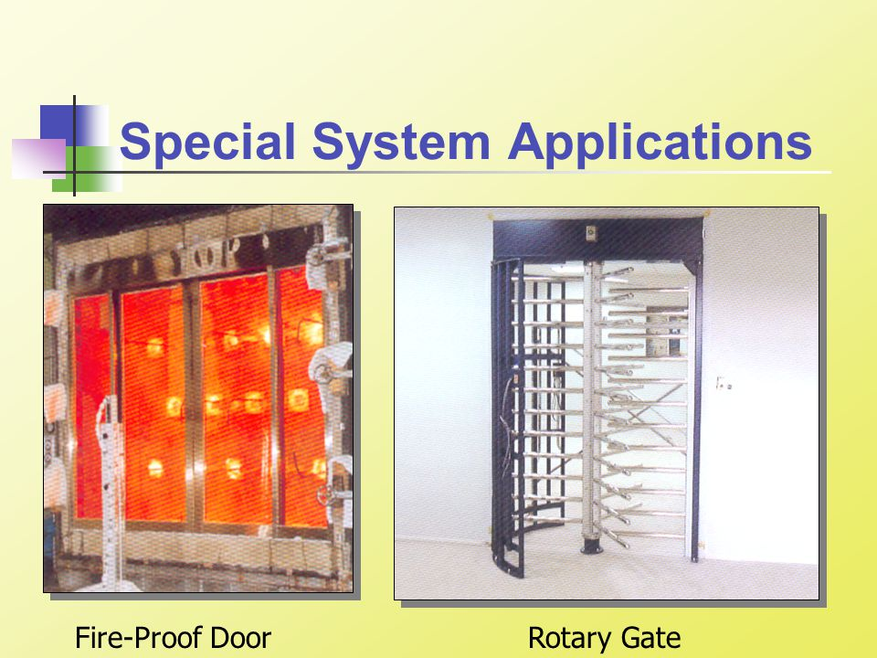 Special System Applications Rotary GateFire-Proof Door