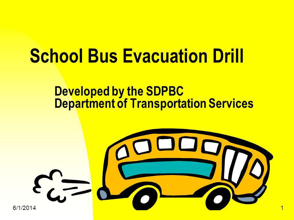 6/1/20142 Recommended evacuation procedures Front Door evacuation Rear door evacuation Split door evacuation Evacuation of student with special needs