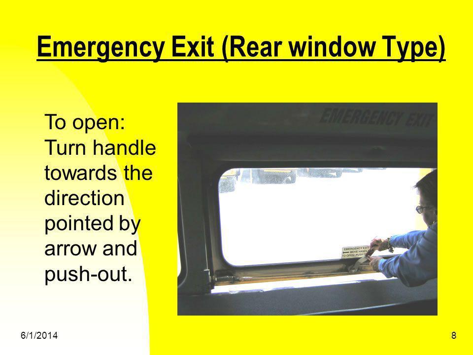 6/1/20149 Split Door Evacuation Students must evacuate through front and rear door.