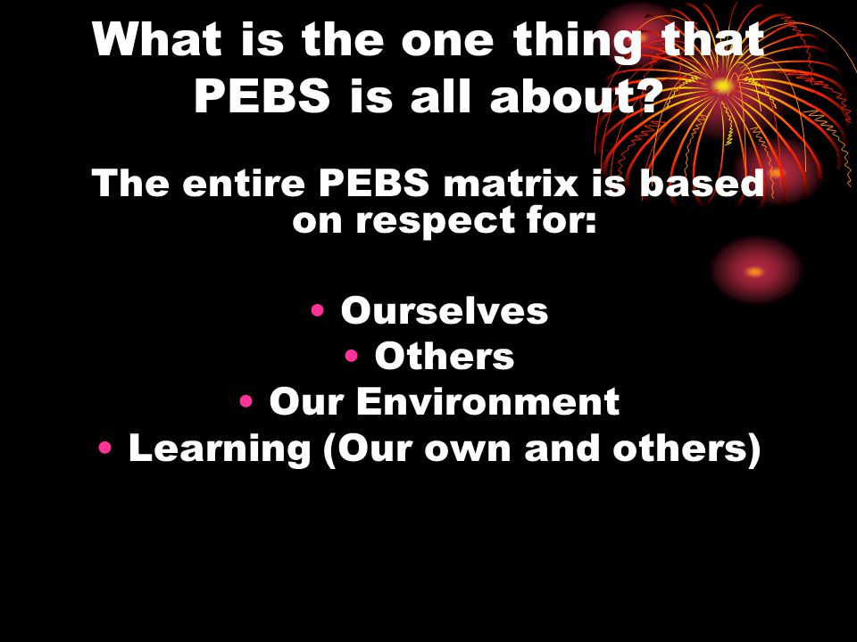 Where does PEBS take place.