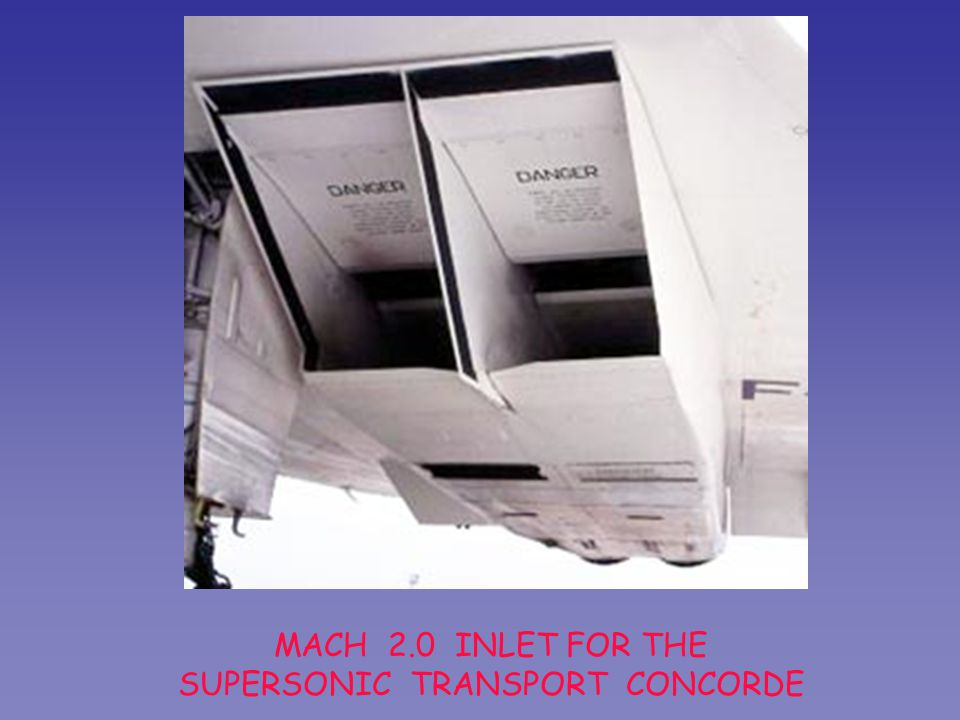 MACH 2.0 INLET FOR THE SUPERSONIC TRANSPORT CONCORDE