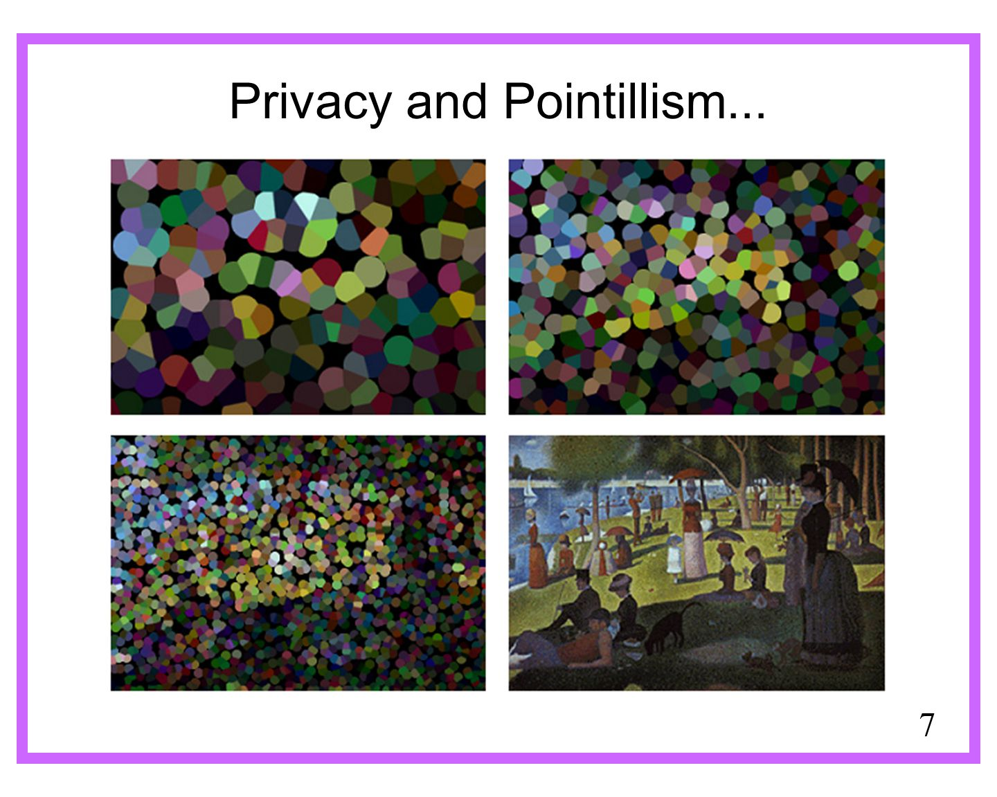 7 Privacy and Pointillism...