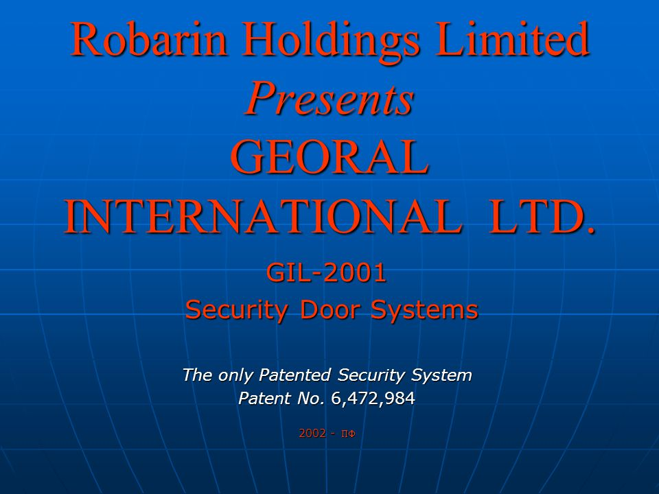GEORAL INTERNATIONAL A self-management system operated through a main console with event printing capability with process parameters set from management terminal.
