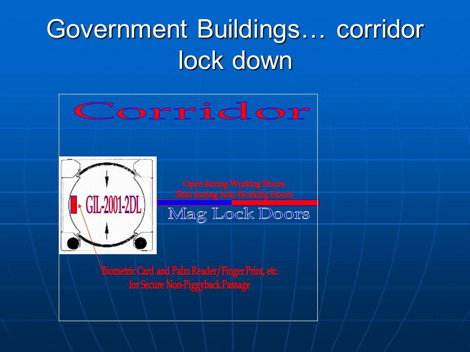 Government Buildings… corridor lock down