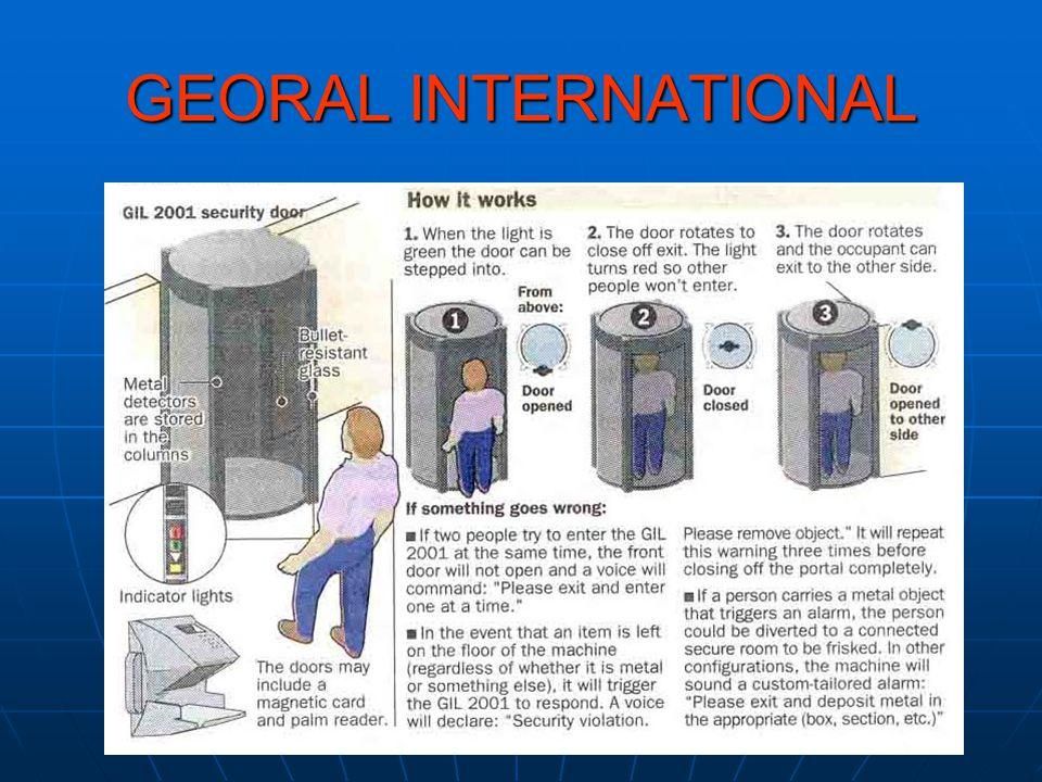 GEORAL INTERNATIONAL Chosen By: U.S.Department of Justice U.S.