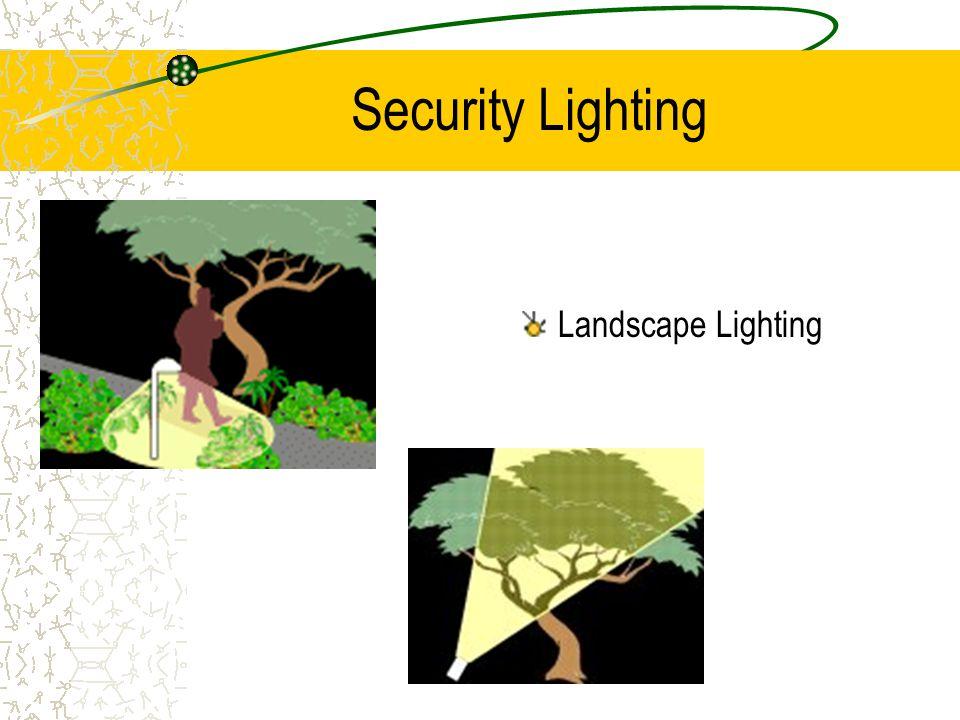 Security Lighting Landscape Lighting
