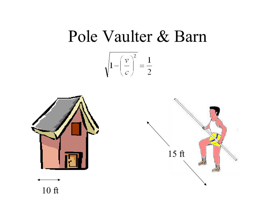 Pole Vaulter & Barn 10 ft 15 ft