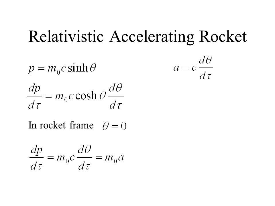 Relativistic Accelerating Rocket In rocket frame