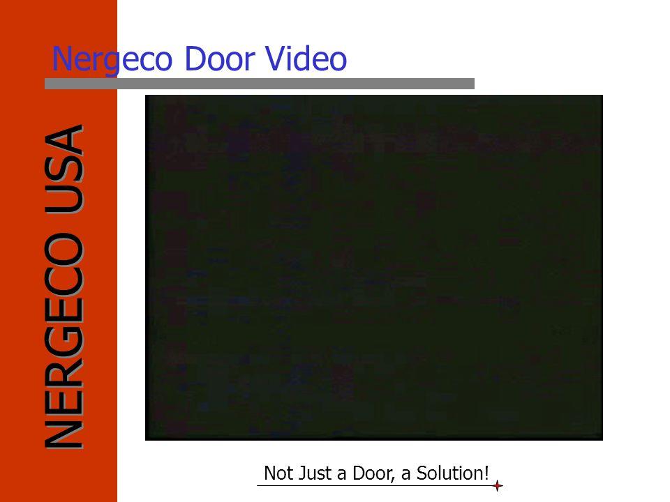 NERGECO USA Not Just a Door, a Solution! Nergeco Door Video