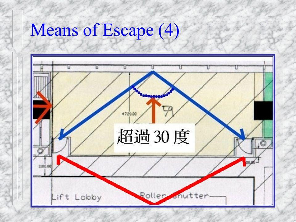 Means of Escape (3) XXXXXX