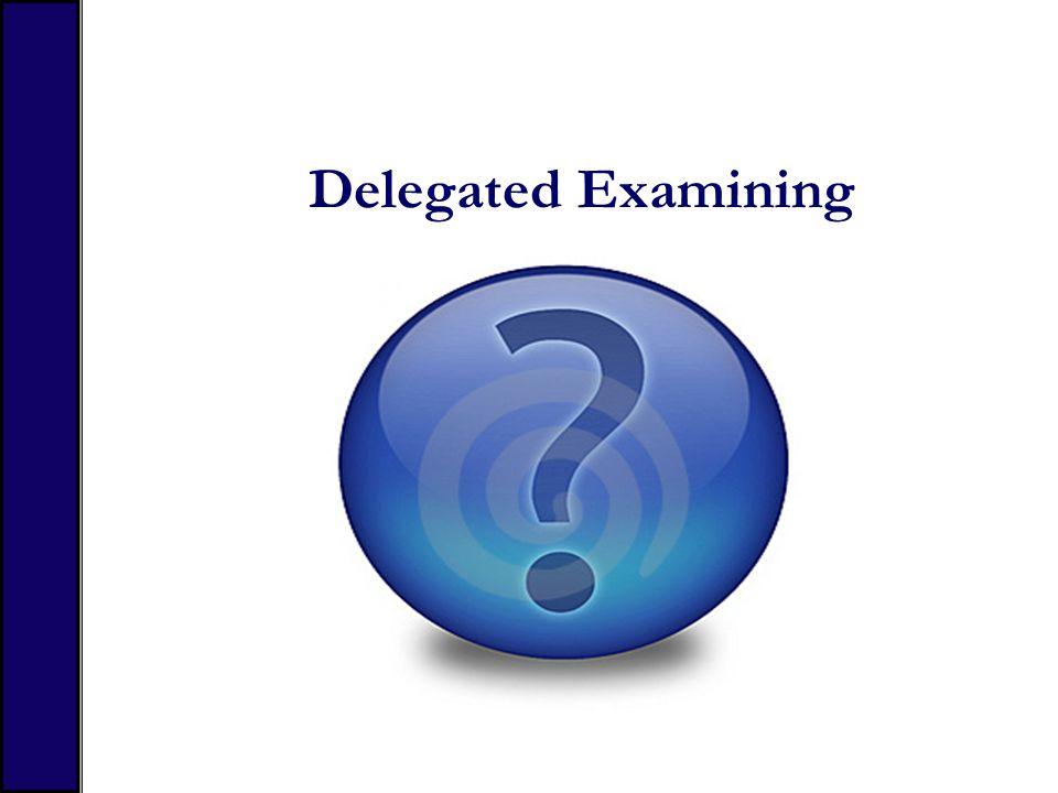 Delegated Examining