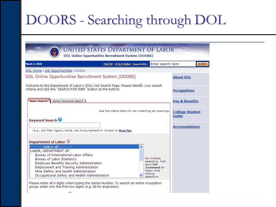 DOORS - Searching through DOL