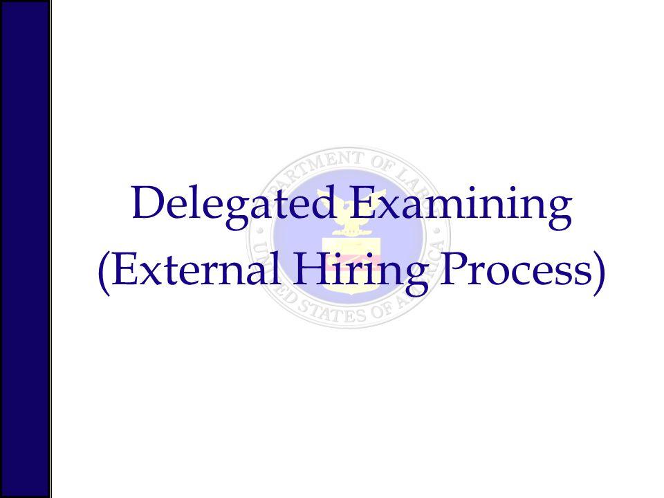 Delegated Examining (External Hiring Process)