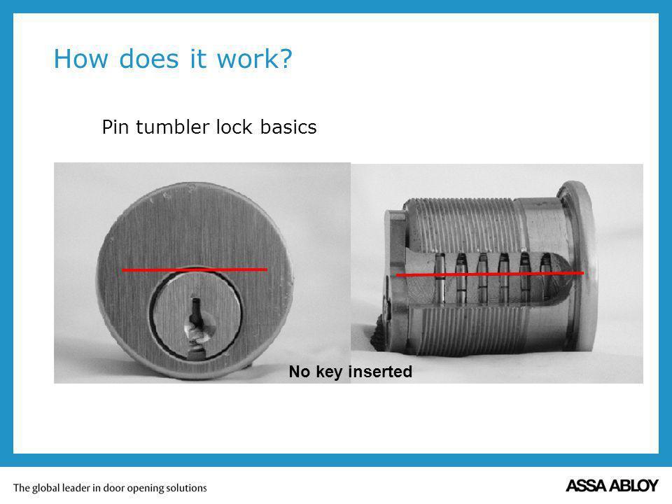 How does it work Pin tumbler lock basics No key inserted