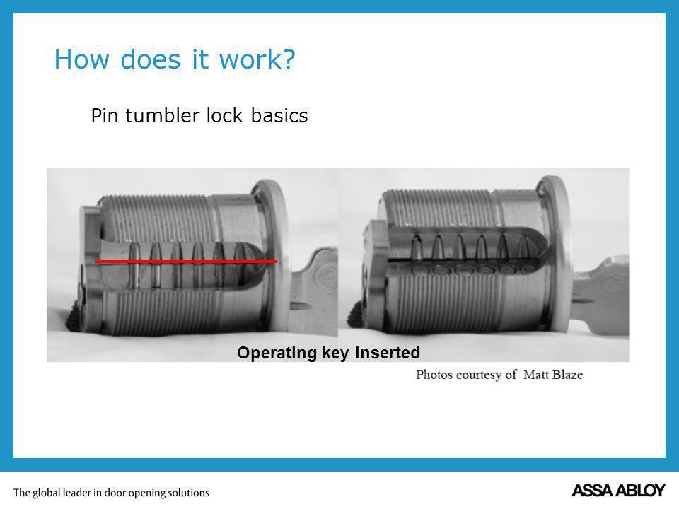 How does it work Pin tumbler lock basics Operating key inserted