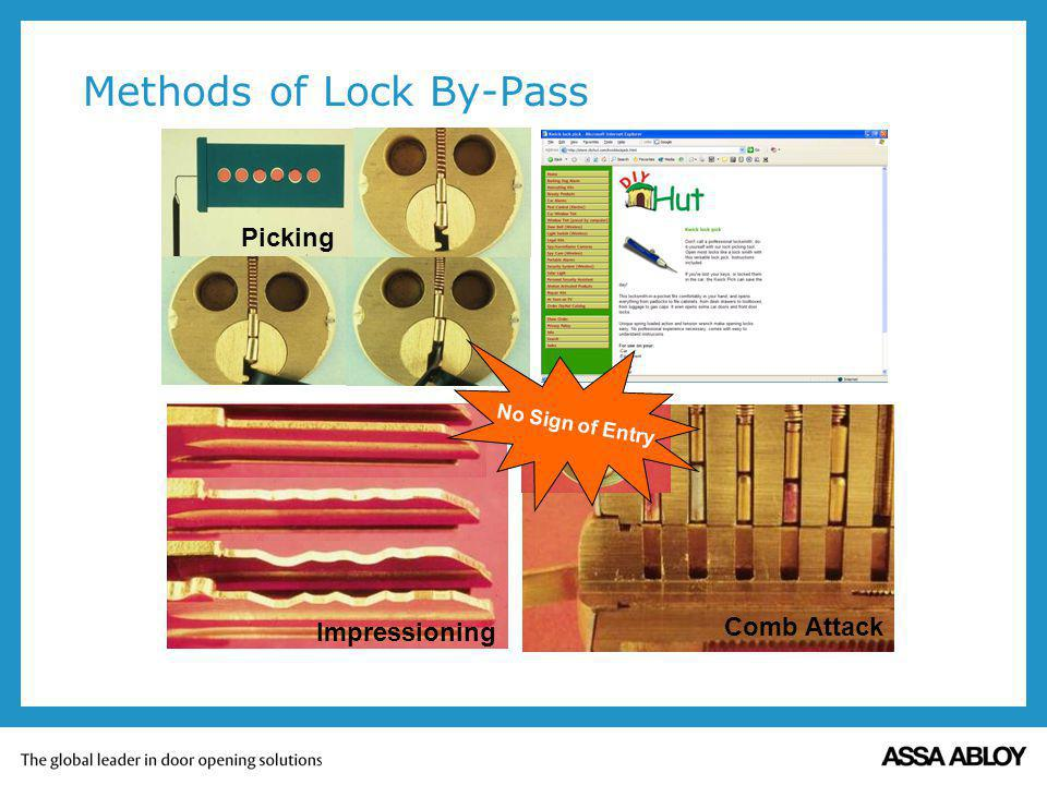 Methods of Lock By-Pass Comb Attack Impressioning Picking No Sign of Entry