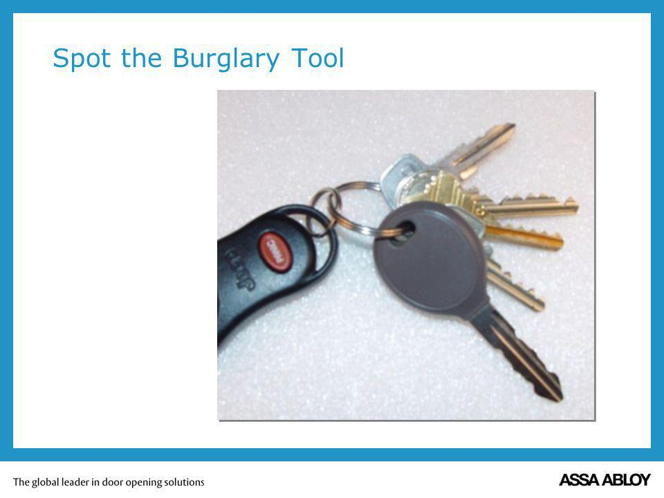 Spot the Burglary Tool