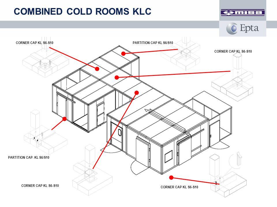 CORNER CAP KL S6-S10 PARTITION CAP. KL S6/S10 CORNER CAP KL S6-S10 PARTITION CAP KL S6/S10 COMBINED COLD ROOMS KLC