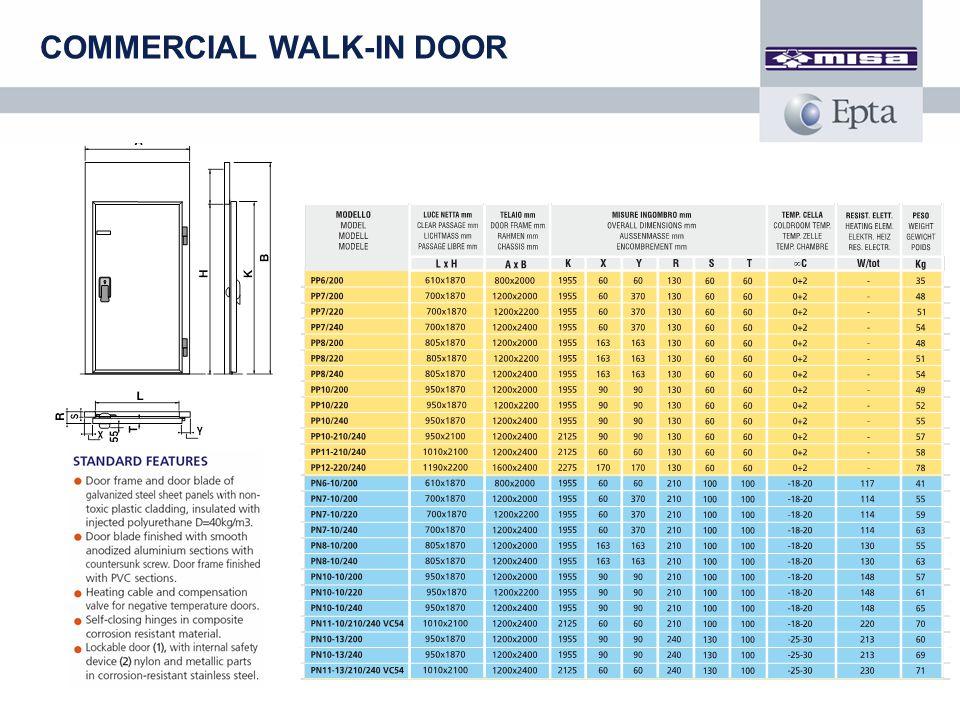 COMMERCIAL WALK-IN DOOR