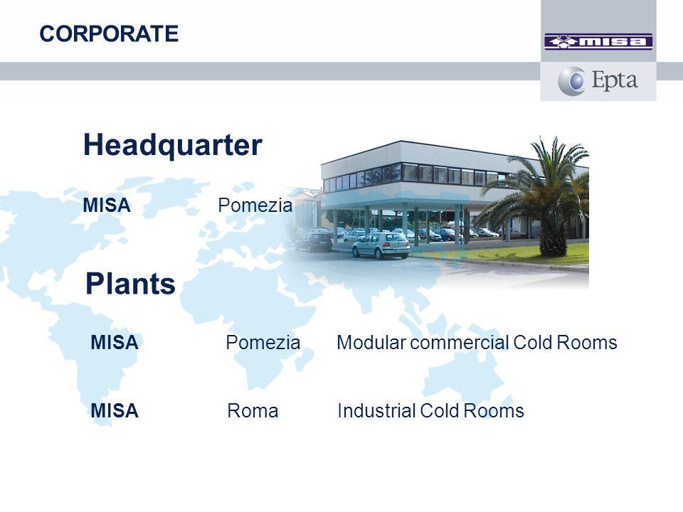 Headquarter MISA Pomezia CORPORATE Plants MISA Pomezia Modular commercial Cold Rooms MISA Roma Industrial Cold Rooms