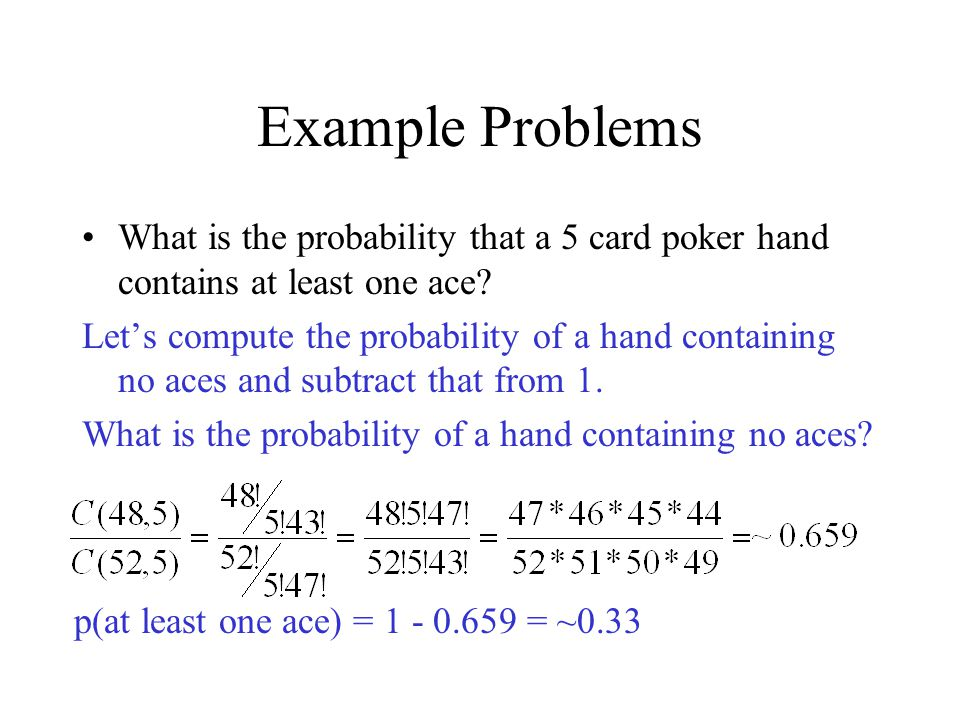 probability of 4 of a kind in a poker hand