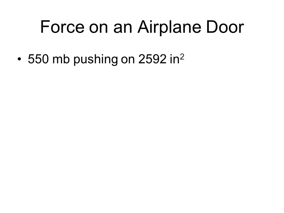 Force on an Airplane Door 550 mb pushing on 2592 in 2