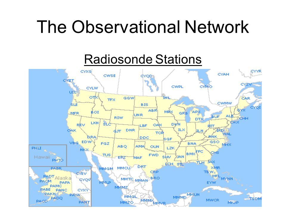 The Observational Network Radiosonde Stations