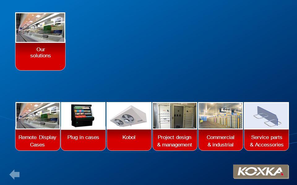 Our solutions, remote display cases Counters Multidecks Roll-in Doors Half glass door Islands Low multidecks Return to Retail solutions menu