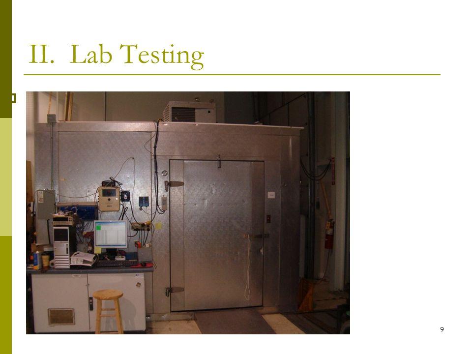 9 II. Lab Testing