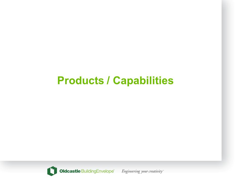 11 Products / Capabilities