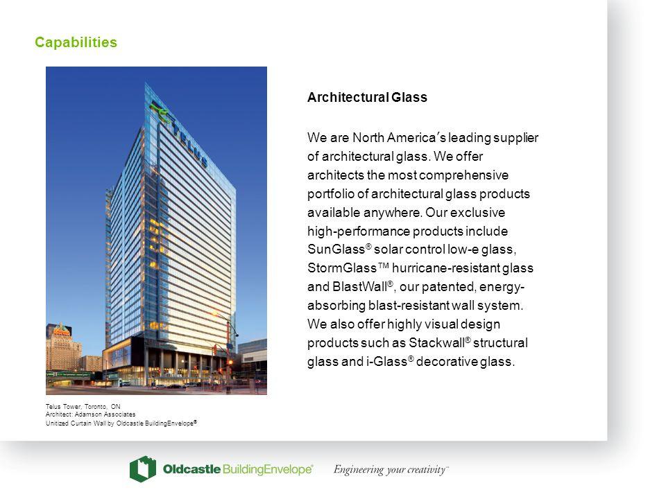 17 Architectural Glass We are North Americas leading supplier of architectural glass. We offer architects the most comprehensive portfolio of architec