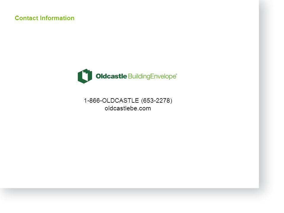27 Contact Information 1-866-OLDCASTLE (653-2278) oldcastlebe.com
