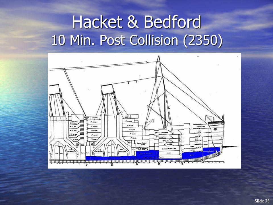Slide 38 Hacket & Bedford 10 Min. Post Collision (2350)