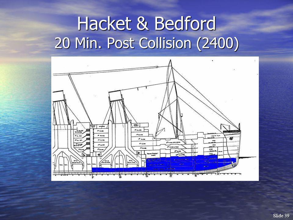 Slide 39 Hacket & Bedford 20 Min. Post Collision (2400)