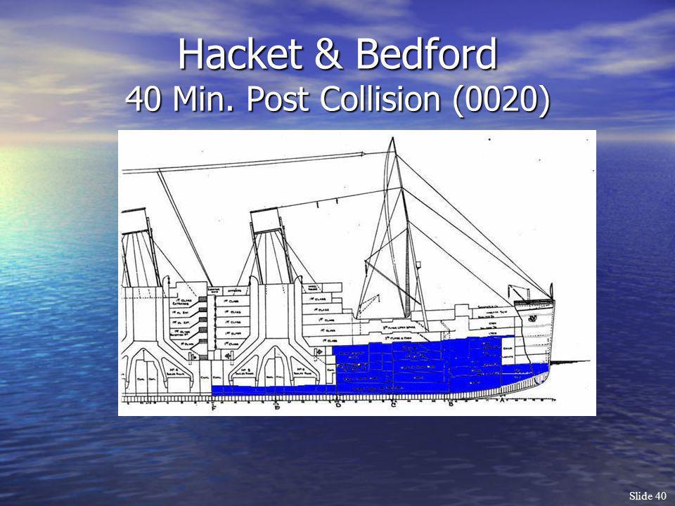 Slide 40 Hacket & Bedford 40 Min. Post Collision (0020)