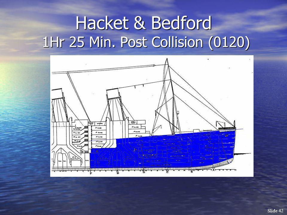Slide 42 Hacket & Bedford 1Hr 25 Min. Post Collision (0120)
