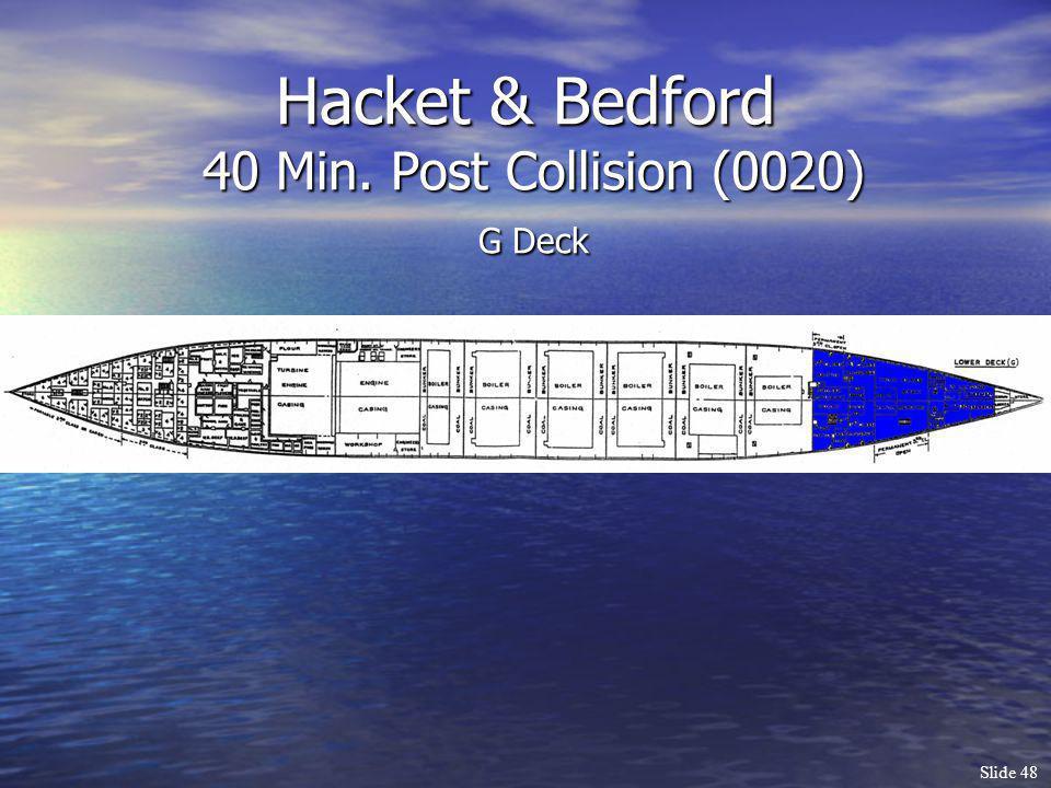 Slide 48 Hacket & Bedford 40 Min. Post Collision (0020) G Deck