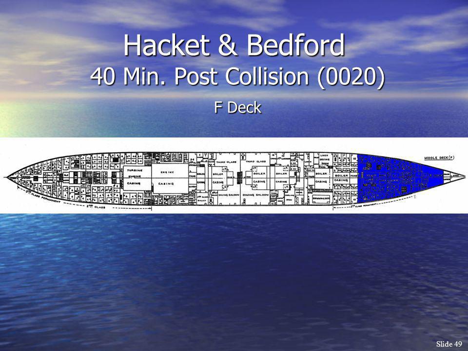 Slide 49 Hacket & Bedford 40 Min. Post Collision (0020) F Deck