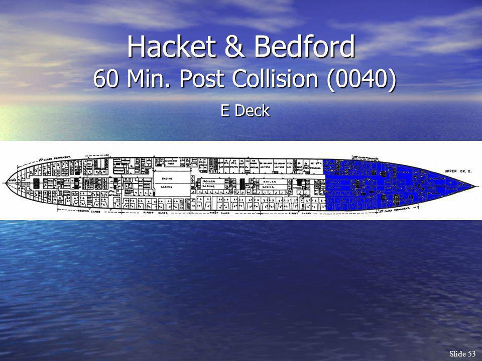 Slide 53 Hacket & Bedford 60 Min. Post Collision (0040) E Deck
